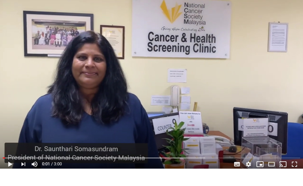 A Message To Our Donors From Dr Saunthari Somasundram, President Of NCSM